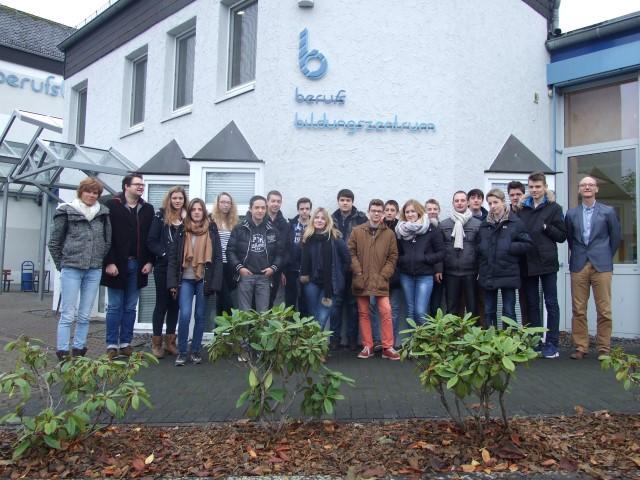 Besuch vom Institut Saint Eloi aus Bapaume im berufsbildungszentrum Bitburg-Prüm (bebiz)